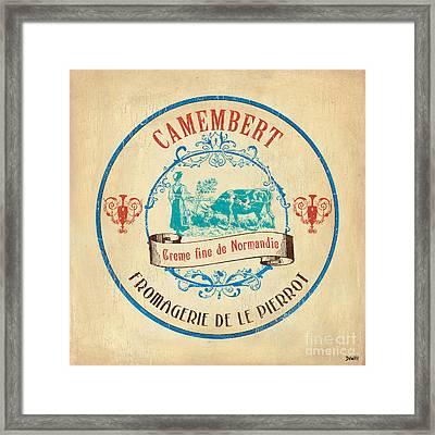 Vintage Cheese Label 3 Framed Print by Debbie DeWitt