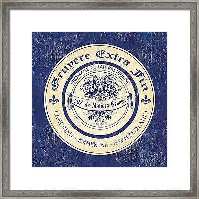 Vintage Cheese Label 5 Framed Print by Debbie DeWitt