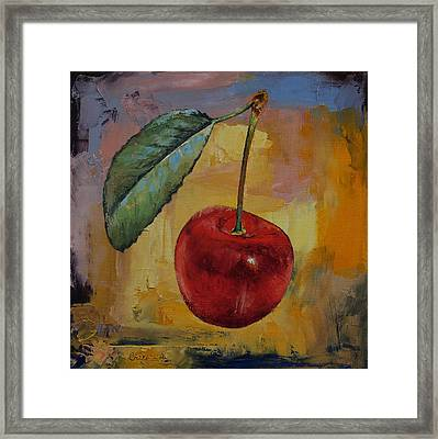 Vintage Cherry Framed Print by Michael Creese