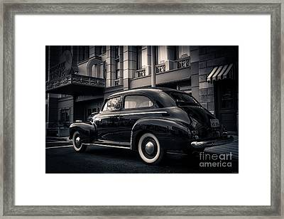Vintage Chevrolet In 1934 New York City Framed Print by Edward Fielding