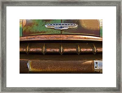 Vintage Chevy 2 Framed Print by Nancy  de Flon