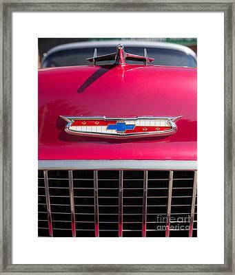 Vintage Chevy Bel Air Framed Print by Edward Fielding