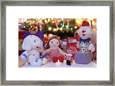 Vintage Christmas Elf Island Of Misfit Toys Framed Print by Barbara West