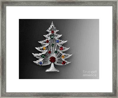 Vintage Christmas Tree Framed Print by Jai Johnson