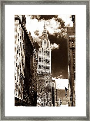 Vintage Chrysler Building Framed Print by John Rizzuto