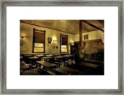 Vintage Classroom Framed Print by Dan Sproul