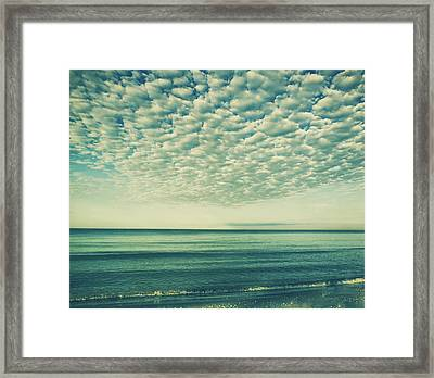 Vintage Clouds Framed Print by Kim Hojnacki
