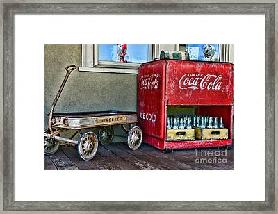 Vintage Coca-cola And Rocket Wagon Framed Print by Paul Ward