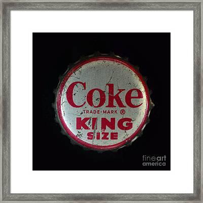 Vintage Coca Cola Bottle Cap Framed Print by Paul Ward