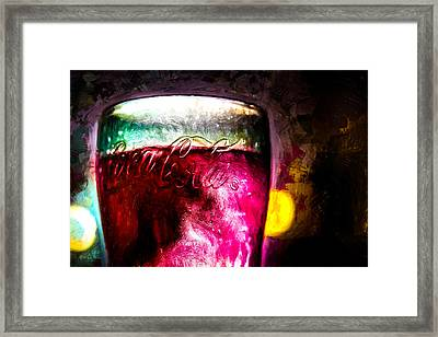 Vintage Coca Cola Glass With Ice Framed Print by Bob Orsillo