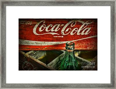 Vintage Coca-cola Framed Print by Paul Ward