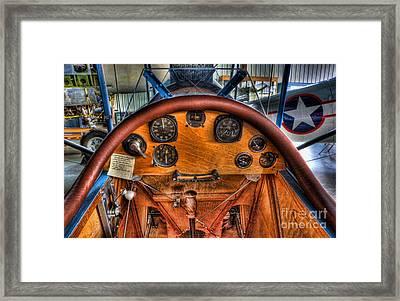 Vintage Cockpit - Flight Instruments Framed Print by Lee Dos Santos