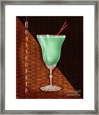 Vintage Cocktails-grasshopper Framed Print by Shari Warren