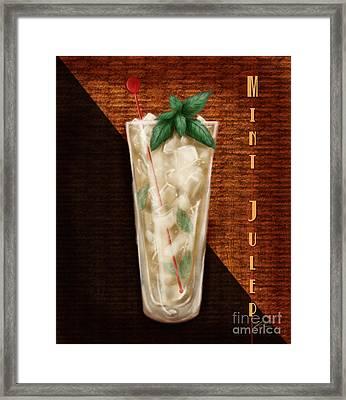Vintage Cocktails-mint Julep Framed Print by Shari Warren