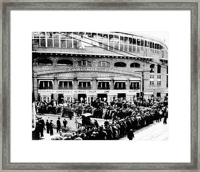 Vintage Comiskey Park - Historical Chicago White Sox Black White Picture Framed Print by Horsch Gallery