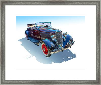 Vintage Convertible Framed Print by Gianfranco Weiss
