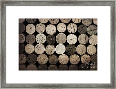 Vintage Corks Framed Print by Jane Rix