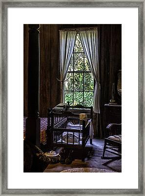 Vintage Crib And Bedroom Framed Print by Lynn Palmer