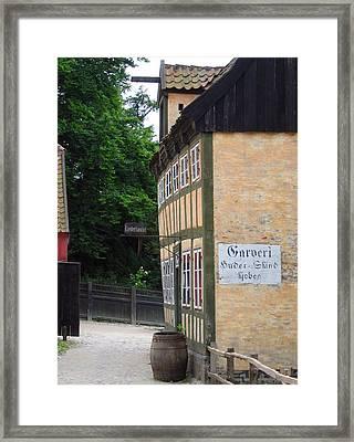 Vintage Danish House Framed Print by Konni Jensen