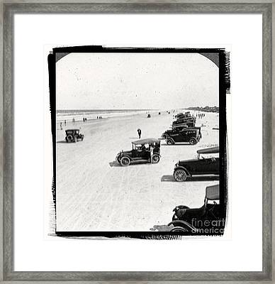 Vintage Daytona Beach Florida Framed Print by Edward Fielding