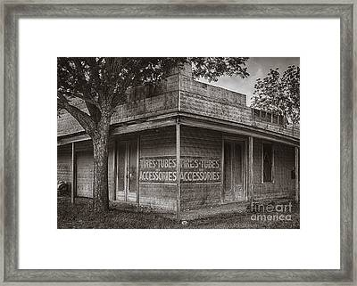 Vintage D'hanis Texas Business Framed Print by Priscilla Burgers