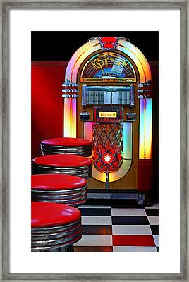 Vintage Diner Framed Print by Nikolyn McDonald