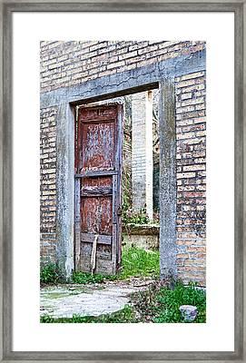 Vintage Doorway Framed Print by Susan Schmitz