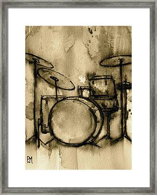 Vintage Drums Framed Print by Pete Maier
