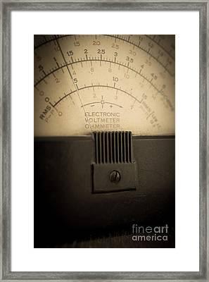 Vintage Electric Meter Framed Print by Edward Fielding