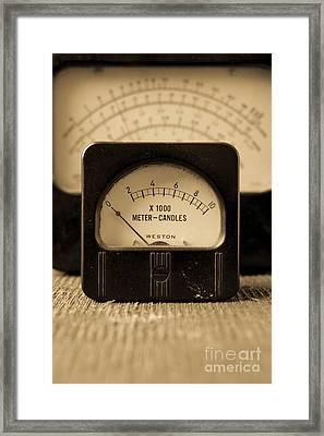 Vintage Electrical Meters Framed Print by Edward Fielding