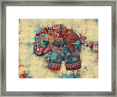 Vintage Elephant Framed Print by Karin Taylor