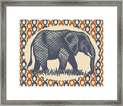 Gray Elephant Framed Print by Flo Karp