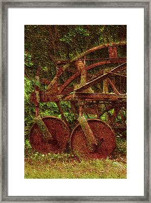 Vintage Farm Equipment Framed Print by Jack Zulli