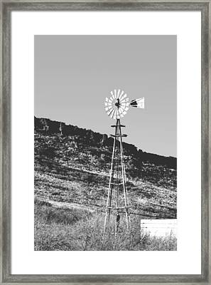 Vintage Farm Windmill Framed Print by Christine Till