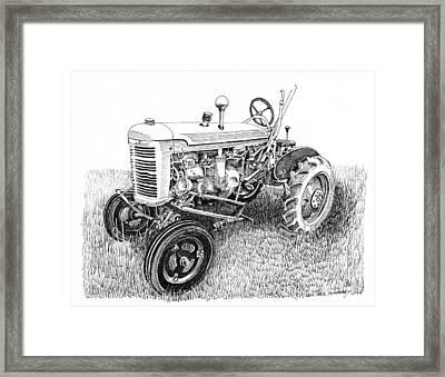 Vintage Farmall  I H W 6 Tractor Framed Print by Jack Pumphrey