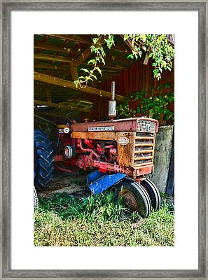 Vintage Farmall Tractor Framed Print by Paul Ward