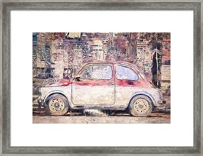 Vintage Fiat 500 Framed Print by Scott Norris