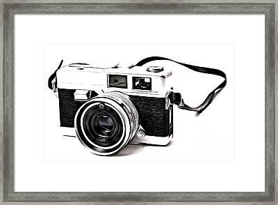 Vintage Film Camera Pop Framed Print by Edward Fielding