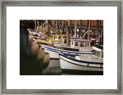 Vintage Fishing Boats Framed Print by Adam Romanowicz