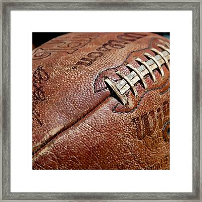 Vintage Football Framed Print by Art Block Collections