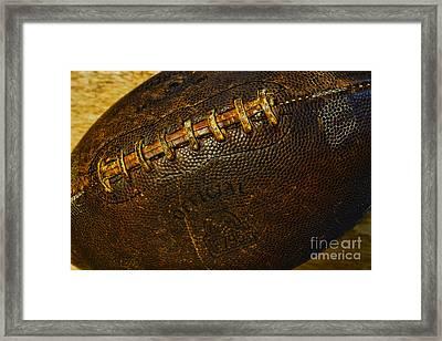 Vintage Football Framed Print by Paul Ward