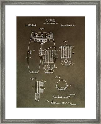 Vintage Football Uniform Patent Framed Print by Dan Sproul