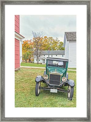 Vintage Ford Model A Car Framed Print by Edward Fielding