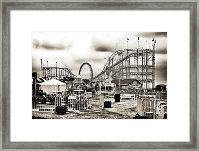 Vintage Funtown Framed Print by John Rizzuto