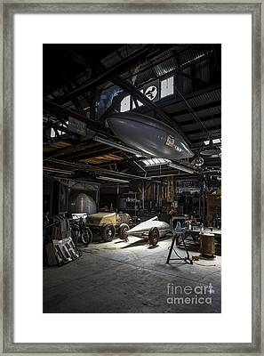 Vintage Garage - Metal And Speed Framed Print by Holly Martin
