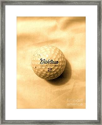 Vintage Golf Ball Framed Print by Anita Lewis