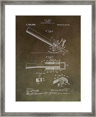 Vintage Hammer Patent Framed Print by Dan Sproul