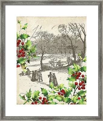 Vintage Holiday I Framed Print by Katie Pertiet