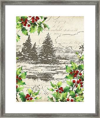 Vintage Holiday II Framed Print by Katie Pertiet