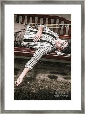Vintage Homeless Man Framed Print by Jorgo Photography - Wall Art Gallery